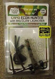 Tiger Tuff Archery Camo Econo RH Hunter Arrow Rest w/Big Claw Launcher CAR100