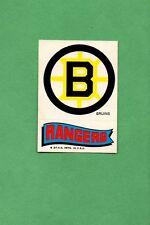 1973-74 TOPPS HOCKEY SET -  LOGO STICKER - BOSTON BRUINS / NEW YORK RANGERS