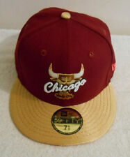 New Era HWC Chicago Bulls Maroon Gold 59Fifty Fitted Hat Cap 7 5/8 – New