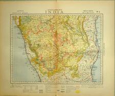 1883 LETTS MAP INDIA MYSORE MANGALORE COOMTAH BALLARY MADRAS PONDICHERRY ARCOT
