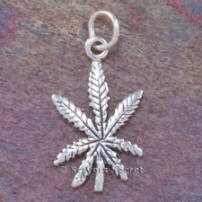 .925 sterling silver MARIJUANA Weed POT LEAF 925 Charm Pendant Cannabis