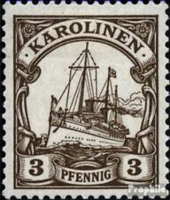 Carolines (Duits.Colony) 7 postfris 1901 Schip Imperial Yacht Hohenzollern