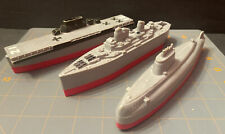 Vintage Marx Submarine, Aircraft Carrier And Battleship