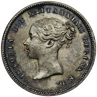 1874 MAUNDY FOURPENCE - VICTORIA BRITISH SILVER COIN (EDGE DAMAGE)