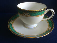 Wedgwood Lambourn (jade) tea cup & saucer (cup is a second,no visible flaws)