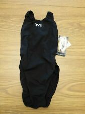 Tyr Women's 34 Black Tracer Light Aeroback Swimsuit Usa Made New With Tags! $170