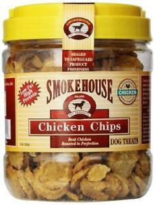 Smokehouse 100-Percent Natural Chicken Chips Dog Treats, 1-Pound