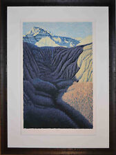 Listed American Artist Gordon Mortensen, Signed Color Woodcut South Dakota