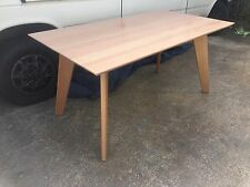 Local Made Solid Tassie Oak Hardwood Timber Retro Dining Table 1800w