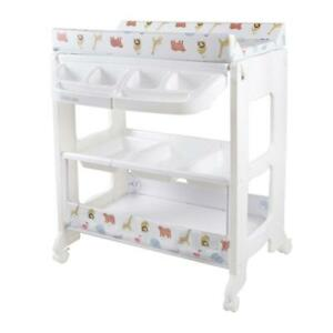 Childcare Change Centre 3 Tier Baby Infant Changing Pad Bathing Bath Tub Storage