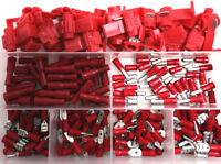420 PCE KIT - RED ELECTRICAL TERMINAL CONNECTORS FEMALE MALE SPADE BULLET SPLICE