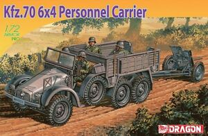 Dragon 7377 1/72 Plastic WWII German Kfz. 70 Krupp Personnel Carrier and AT Gun