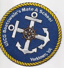 "Uscg United States Coast Guard Patch Boatswain's Mate"" Yorktown, Va. 4 In #1005"