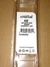 4GB Crucial laptop memory  DDR2 SDRAM  CT51264AC667-5300 Random Access Memory