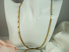 Very Pretty Signed Korea More Modern Gold Tone Necklace  1129H