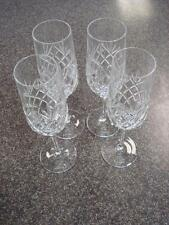 Set of Four Royal Doulton Crystal Wine Glasses