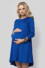 Ladies Maternity Versatile Shift Dress Long Sleeve Crew Neck Plus Size 8-18 FM10