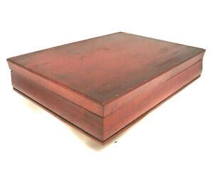 Vintage Tarnish Resistant Wood Silverware Flatware Wooden Storage Chest Box 49