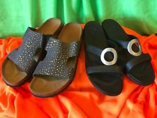 """NEW w/out Box, Womens Sandals, """"Betula by Birkenstock"""" and """"Crocs"""", Black Blue"""