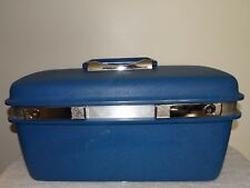 VINTAGE BLUE SAMSONITE SATURN II COSMETIC, MAKEUP TRAIN HARD CASE