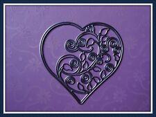 Swirls & Leaves Heart Metal Cutting Die,Stencil,Craft,Card Making,Scrapbooking