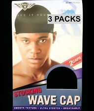 KING. J STOCKING WAVE CAP SMOOTH TEXTURE ULTRA STRETCH 2 PER PACK #061 3 PACKS