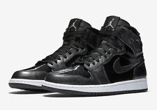 Nike Air Jordan Retro 1 High (SZ 7.5) Black White Patent Leather 332550-017