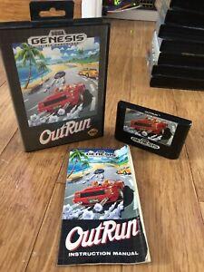 Sega Genesis Out Run Game NTSC Retro Video Games OutRun Mega Drive