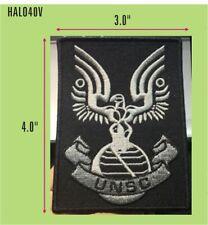 HALO TACTICAL GRAY/BLACK UNSC UNIFORM VEL-KRO PATCH - HALO40V