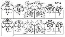 Wasser Wraps Sweet Bloom Nagel Sticker Tattoo Aufkleber Sleider von Fursova 1004