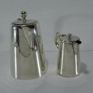 Vintage Challenge Silver Plated Hot Water Pot 400ml & unknown 1000ml coffee pot