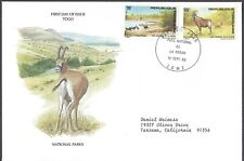 Togo Fdc - National Parks Combo - European Size - Cacheted - Nice!