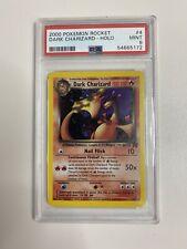 2000 Pokemon Team Rocket  Holo Dark Charizard #4 PSA 9 MINT