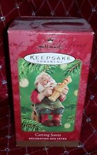 Hallmark Merry Christmas Keepsake Ornament Wood Carving Whittler Santa Claus