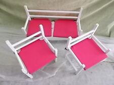 Set de 3 SILLONES para niños. Modelos Pink Armchair