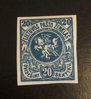 1920 Lithuania 94a MNH Imperf No WMK