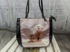 dog Puppy purse tote bag handbag pearls jewelry funny shih tzu maltese travel