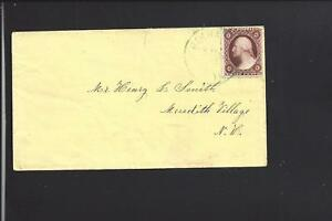 NORTH HAVERHILL,NEW HAMPSHIRE, #26 ON YELLOW COVER TO MERIDTH VILLAGE,GRAFTON CO