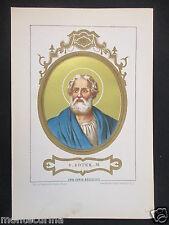 1879 SAN SOTERO SOTER ANTICA STAMPA CROMOLITOGRAFIA PAPA PAPI POPE D246 m