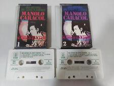 MANOLO CARACOL UNA HISTORIA DEL CANTE FLAMENCO DOBLE 2 X CINTA CASSETTE 1973