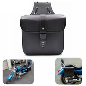 2PCS Motorcycle PU Leather Saddle Bags Storage Tool Pouch Waterproof  Handy