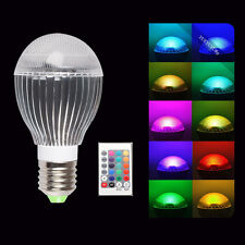 10W E27 E26 LED Party Light Bulb 16 Color Changing RGB Lamp + IR Remote Control