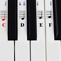 Piano Stickers for 49  61 76  88 Key Keyboards  Transparent and Removable wi