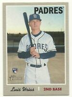 2019 Topps Heritage SP ACTION Variation #387 LUIS URIAS Padres RC