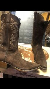 Lucchese Classics BOOTS SIZE 8.5D Handmade Hippo Brown Suede 🦛