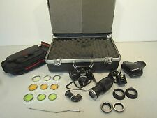 Olympus Film OM-2S Camera Set w/Lens, Flash Pwr Source, Filters, and More! HTF!