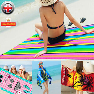 Large Microfibre Travel Towel Quick Dry Compact Lightweight Beach Gym Bath New