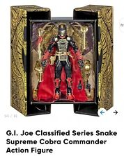 G.I. JOE CLASSIFIED SERIES SNAKE SUPREME COBRA COMMANDER Ships March no cancel
