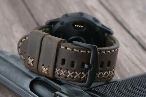 Garmin Fenix 6 6X Pro 6S Leather Watch Band for Garmin Fenix 5 5X 5S 3