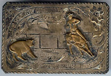 RODEO VINTAGE WESTERN STERLING GOLD JOSEPHINE COUNTY SHERIFFS POSSE BELT BUCKLE